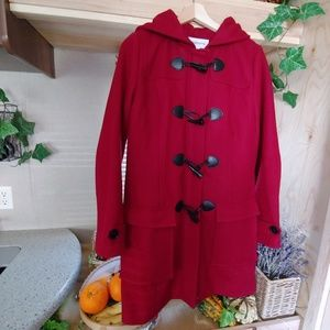Hooded Trench Tiggle Duffle Coat Red size Small